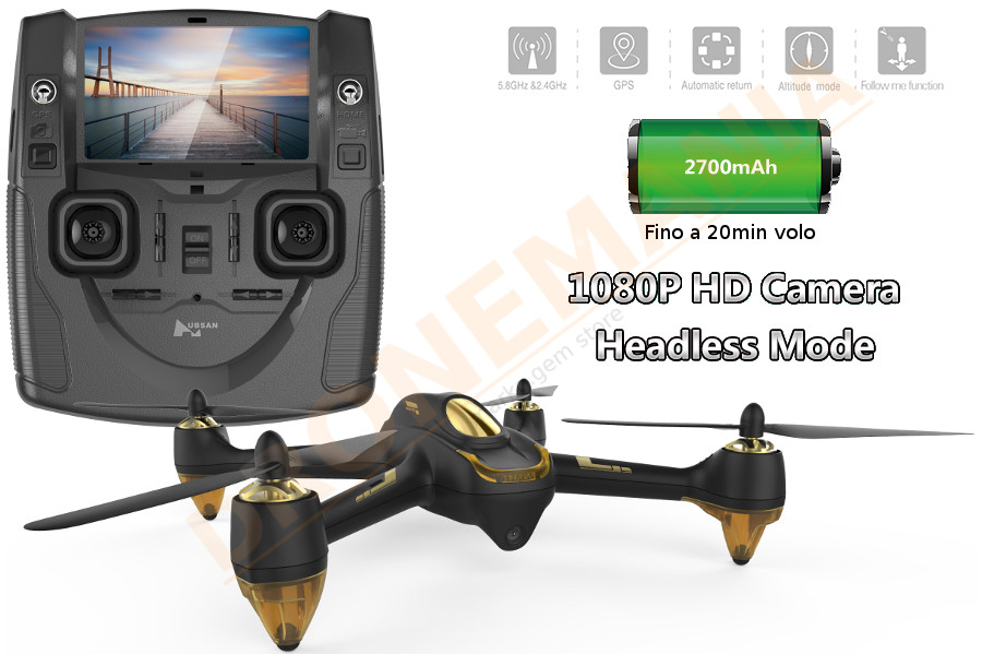 Hubsan h501s drone foto video in diretta monitor 4 3 gps for Diretta camera