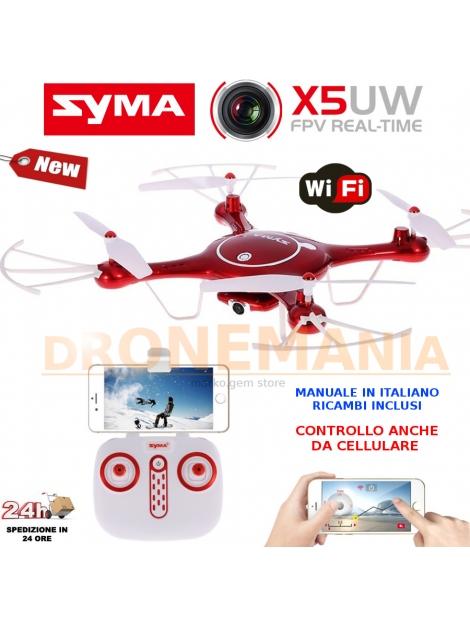 Drone Syma X5UW visione in diretta FPV 720P HD guida da smartphone streaming foto video auto decollo e atterraggio