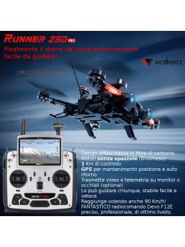 Walkera Runner 250 PRO drone gara corse GPS motori senza spazzole trasmissione video in diretta evoluzioni in volo