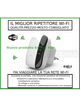 REPEATER WIFI SEGNALE BOOSTER EXTENDER RIPETITORE RETE LAN ETHERNET ACCESS POINT