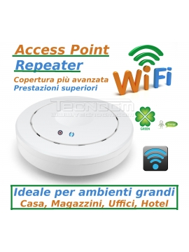 REPEATER ACCESS POINT SOFFITTO professionale AP WIFI 300 Mbps CASA UFFICIO HOTEL