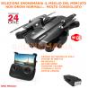 DRONE richiudibile 2 camere video e foto HD barometro sensori posizione