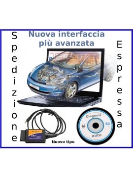 DIAGNOSI AUTO interfaccia elm cavo OBD2 USB tutte le auto Già versione 2015 NEW