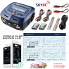 SKYRC CARICABATTERIE multiplo 200W PROFESSIONALE LiPo LiFe LiHV NiMH d100 v2