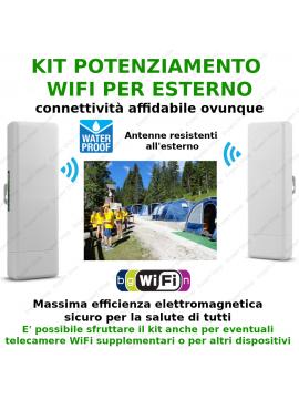 kit 2 Antenne WiFi esterno alta potenza ripetitore amplificatore wireless lunga copertura