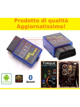 MINI INTERFACCIA DIAGNOSI AUTO OBD BLUETOOTH CANBUS ANDROID TABLET PHONE TORQUE