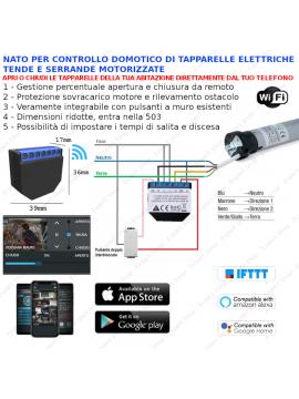 Centrale 2 canali contatto pulito per automatizzazione tapparelle domotica