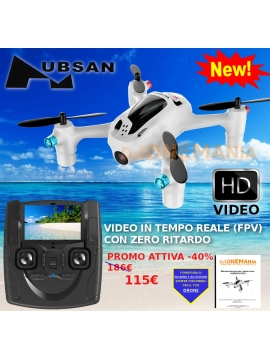 DRONE Quadricottero HUBSAN H107D+ VIDEO X4 CAMERA NUOVA VERS. FPV REAL TIME