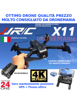 DRONE JJRC X11 GPS E FLUSSO OTTICO CAMERA 2K HD ruotabile e FPV real time BRUSHLESS