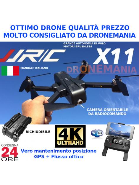 DRONE JJRC X11 GPS E FLUSSO OTTICO CAMERA 2K HD ruotabile e FPV real time BRUSHLESS