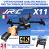 DRONE JJRC X11 GPS E FLUSSO OTTICO CAMERA 4K HD ruotabile e FPV real time BRUSHLESS