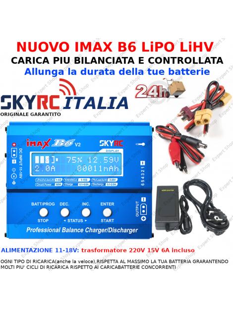 Caricatore Veloce Lipo Imax b6 alimentatore caricabatterie drone 6A