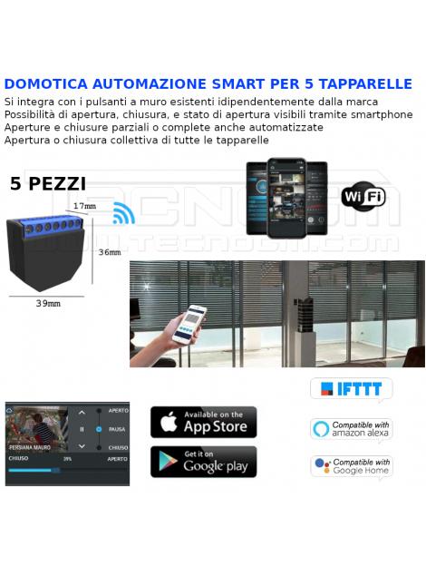 DOMOTICA WIFI automazione SMART 5 tapparelle NO BTICINO VIMAR