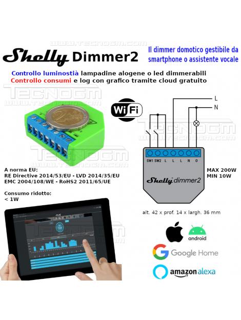 Misuratore consumi professionale SHELLY 3EM contatore trifase controllo WiFi