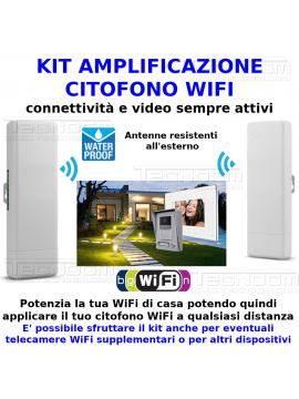 Kit potenziamento CITOFONO WiFi esterno alto segnale a qualsiasi distanza