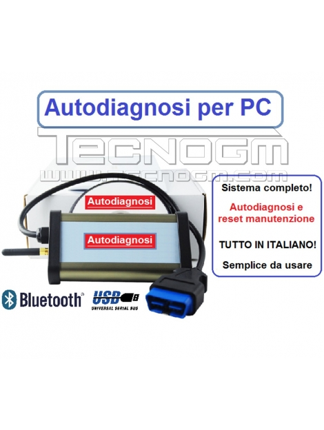 Kit autodiagnosi per PC CDP DIAGNOSI MULTIMARCA Bluetooth o USB