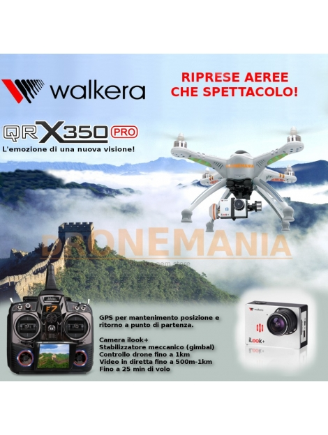 Drone Walkera QRX350PRO QR 350pro GPS GIMBAL STABILIZZATORE CAMERA ILOOK+ 1KM