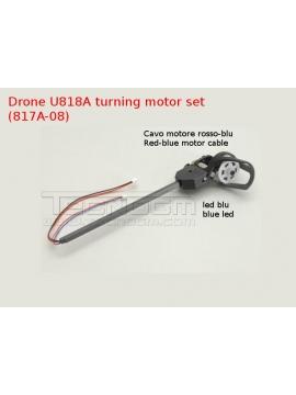 U817A-04 turning motor set LED blu drone U818a U817a quadcopter spare parts braccio