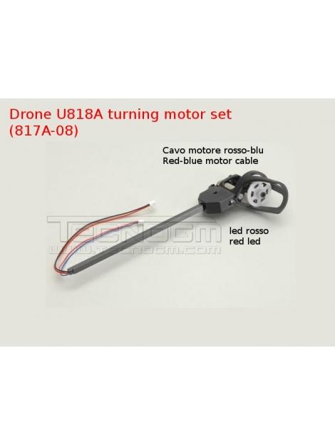 U817A-04 turning motor set LED rosso drone U818a U817a quadcopter spare parts braccio