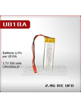 BATTERIA ORIGINALE QUADRICOTTERO DRONE UDI 818A QUADCOPTER BATTERY QUADRIROTORE