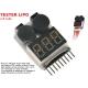 Tester con cicalino batteria 2-8S LiPo avvisatore acustico batteria scarica soglia scarica lettura singole celle