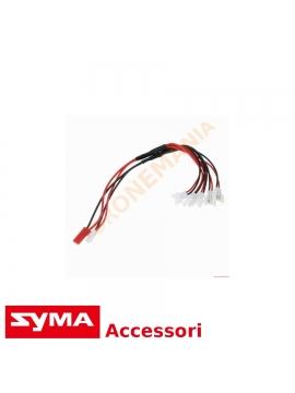 Cavo multiricarica Syma X5SW X5SC X5C presa USB carica più batterie contemporaneamente