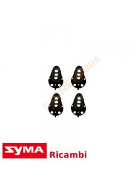 Set 4 coperchi nero motore Syma X8 X8C X8W X8HW X8HG X8HC drone rifinitura ricambio