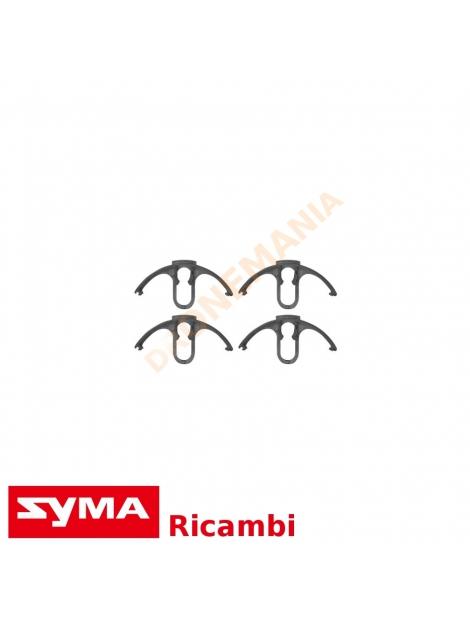 Set 4 tappi bianco gliglie protezione eliche Syma X8 X8C X8W X8G drone rifinitura ricambio
