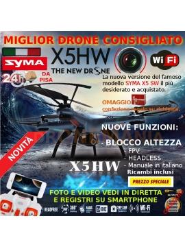 DRONE SYMA X5 HW WIFI +BLOCCO ALTEZZA LA QUALITA AL PREZZO + BASSO IDEA REGALO X5HW