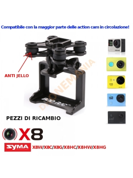 Supporto GoPro camera per Syma X8 X8C X8W X8HW X8HG X8HC drone anti jello