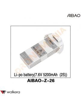 Batteria Walkera AiBao drone AIBAO-Z-26 7,6V 5200 mAh 2S LiPo