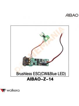 ESC CW LED BLU Walkera AiBao drone AIBAO-Z-14 anteriore sinistra