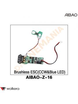 ESC CCW LED BLU Walkera AiBao drone AIBAO-Z-16 anteriore destra