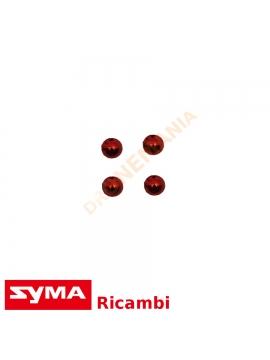 Set coperchi eliche ornamento Syma X5UW colore rosso rifinitura Plating Object