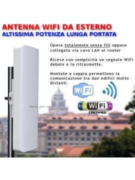 Antenna WiFi esterno alta potenza ripetitore amplificatore wireless lunga copertura