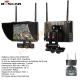 """Monitor FPV 7"""" con ricevente e batteria ricaricabile per drone con trasmissione video su 5,8 GHz"""