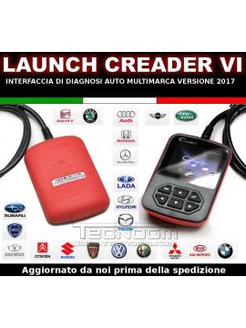 Diagnosi auto LAUNCH VI 6 scanner OBD2 OBDII SCANTOOL CREADER VI italiano 2015