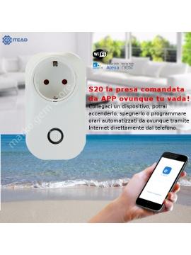 Presa comandata da smarphone APP WiFi gestione a distanza domotica orari timer sonoff itead S20
