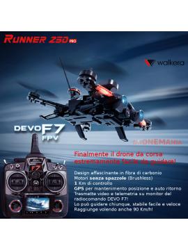 Walkera Runner 250 PRO drone gara corse GPS motori senza spazzole trasmissione video in diretta Radiocomando DEVO F7