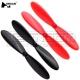 Set eliche nero rosso per drone Hubsan H107C blades propellers spare parts
