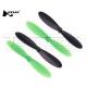 Set eliche nero verde per drone Hubsan H107C blades spare parts black green propellers