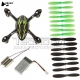 Crash Pack kit ripristino drone Hubsan H107C h107c-a41 set eliche motori scocca body shell motors battery blades