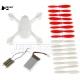 Crash Pack kit ripristino drone Hubsan H107D h107d-a07 set eliche motori scocca body shell motors battery blades