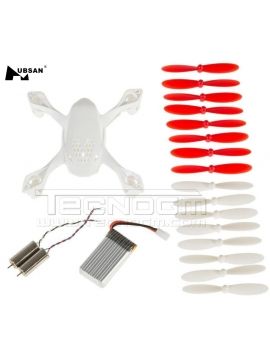 Crash Pack kit ripristino drone Hubsan H107D h107d-a07 set eliche motori scocca body shell motors battery blades