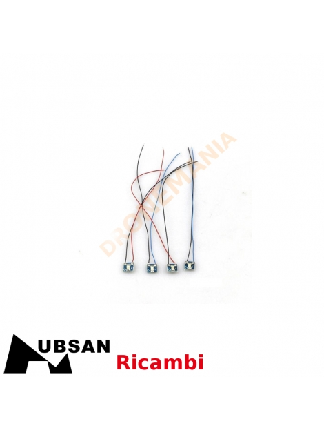 Set 4 LED drone Hubsan H507A H502-12 luci drone ricambi