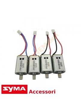 Set 4 motori potenziati Syma X8 X8W X8C X8HW X8HC X8G X8HG ricambio originale kit potenziamento