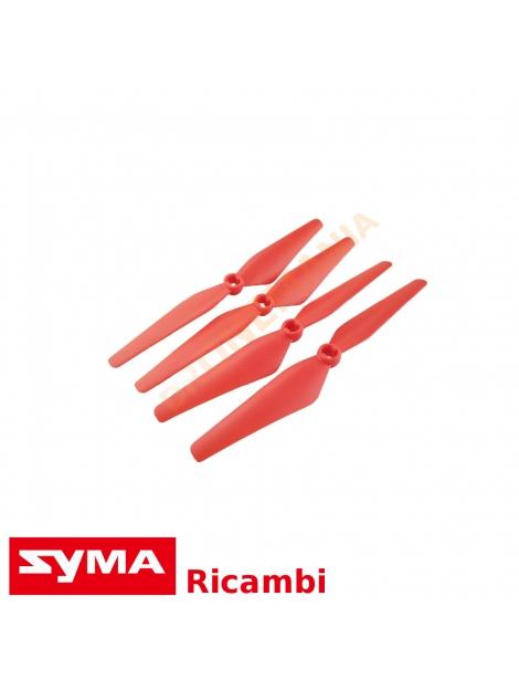Eliche rosse Syma X8SW X8PRO ricambi originali accessori drone