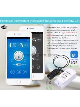 Interruttore misuratore temperatura e umidità WiFi Sonoff TH16 termostato domotica